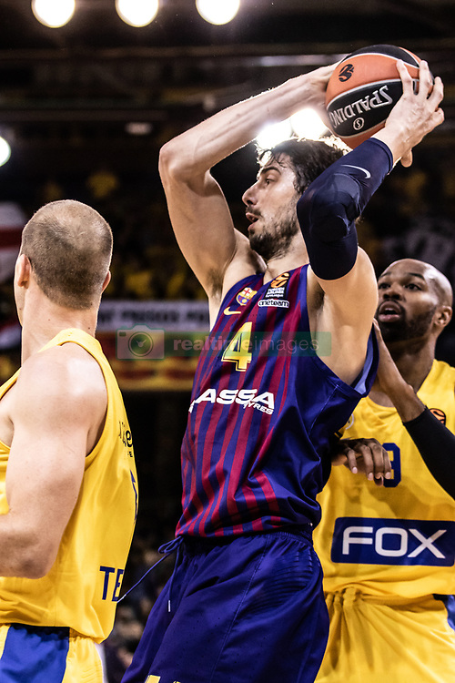 November 1, 2018 - Barcelona, Barcelona, Spain - Ante Tomic, #44 of FC Barcelona Lassa in actions during EuroLeague match between FC Barcelona Lassa and Maccabi Fox Tel Aviv  on November 01, 2018 at Palau Blaugrana, in Barcelona, Spain. (Credit Image: © AFP7 via ZUMA Wire)