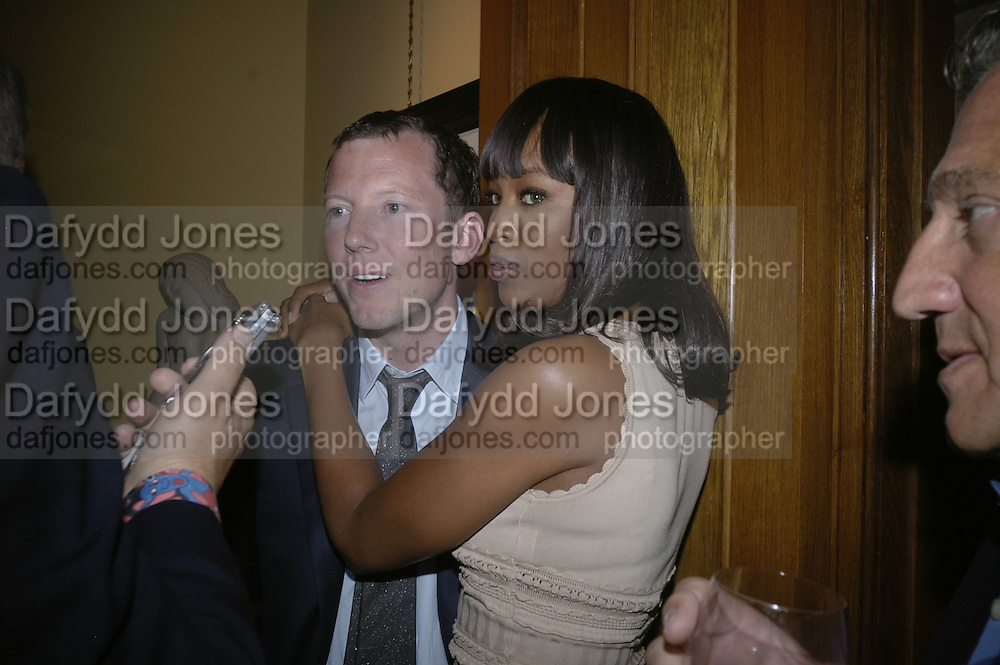 Nat Rothschild and Naomi Campbell, Party for Jean Pigozzi hosted by Ivor Braka to thank him for the loan exhibition 'Popular Painting' from Kinshasa'  at Tate Modern. Cadogan sq. London. 29 May 2007.  -DO NOT ARCHIVE-© Copyright Photograph by Dafydd Jones. 248 Clapham Rd. London SW9 0PZ. Tel 0207 820 0771. www.dafjones.com.