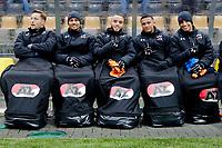(L-R) *Rens van Eijden* of AZ Alkmaar, *Ricardo van Rhijn* of AZ Alkmaar, *Illiass Bel Hassani* of AZ Alkmaar, *Dabney Dos Santos Souza* of AZ Alkmaar