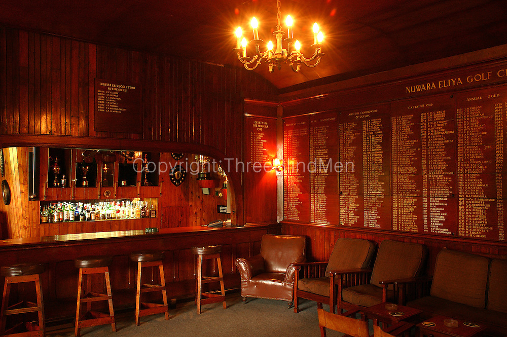 The Golf Club in Nuwara Eliya. The Bar.