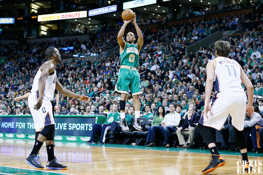 16 March 2013: Boston Celtics point guard Avery Bradley (0) takes a jumpshot during the Boston Celtics 105-88 victory over the Charlotte Bobcats at the TD Garden, Boston, Massachusetts, USA.