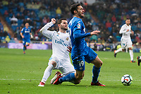 Real Madrid Nacho Fernandez Getafe Jorge Molina during La Liga match between Real Madrid and Getafe CF  at Santiago Bernabeu Stadium in Madrid , Spain. March 03, 2018. (ALTERPHOTOS/Borja B.Hojas)