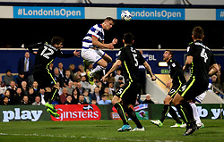 Matt Smith of Queens Park Rangers heads the ball - Mandatory by-line: Robbie Stephenson/JMP - 07/04/2017 - FOOTBALL - Loftus Road - Queens Park Rangers, England - Queens Park Rangers v Brighton and Hove Albion - Sky Bet Championship
