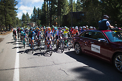 Riders approach KM 0 on Stage 2 of the Amgen Tour of California - a 108 km road race, starting and finishing in South Lake Tahoe on May 18, 2018, in California, United States. (Photo by Balint Hamvas/Velofocus.com)