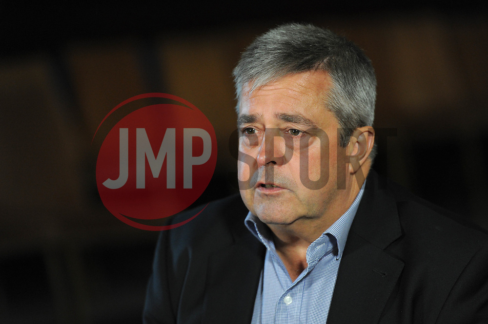 Bristol Rovers' Chairman Nick Higgs speaks to press as they lose the court case against Sainsburys - Photo mandatory by-line: Dougie Allward/JMP - Mobile: 07966 386802 - 13/07/2015 - SPORT - Football - Bristol - Memorial Stadium - Press Conference