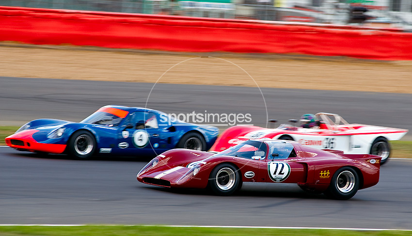 Car No 72. Passes 4 & 36 at abbey. Silverstone CLassic - Pre '66 protoypes - 25/7/10.