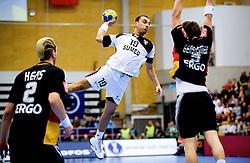 14.01.2011, FFS Arena, Lund, SWE, IHF Handball Weltmeisterschaft 2011, Herren, Deutschland (GER) vs Aegypten (EGY) im Bild, // Mohamed Abdelwares, Egypten // during the IHF 2011 World Men's Handball Championship match Germany (GER) vs Egypt (EGY) at FFS Arena in Lund. . EXPA Pictures © 2011, PhotoCredit: EXPA/ nph/  Bildbyrån   76200       ****** out of GER / SWE / CRO ******
