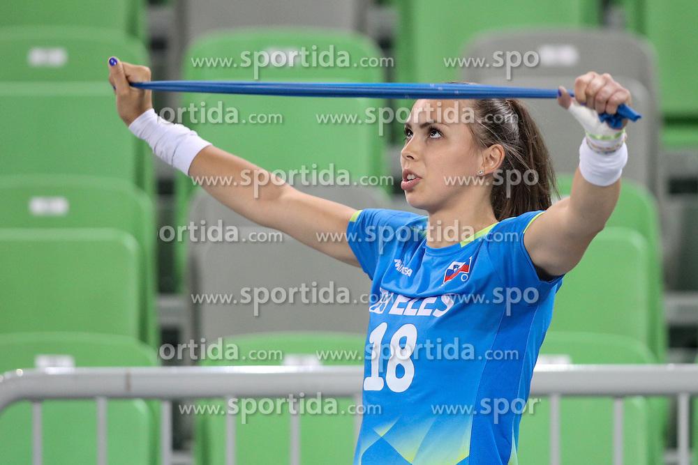 Sasa Planinsec of Slovenia before volleyball match between Slovenia and Slovakia in CEV European League Women on June 22, 2016 in Stozice, Ljubljana, Slovenia. Photo by Morgan Kristan / Sportida