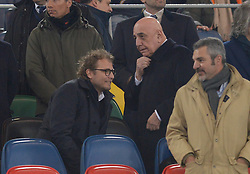 February 26, 2019 - Rome, Italy - Luca Lotti and Adriano Galliani during the Italian Cup football match between SS Lazio and AC Milan at the Olympic Stadium in Rome, on february 26, 2019. (Credit Image: © Silvia Lore/NurPhoto via ZUMA Press)