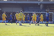 Millwall striker Aiden O'Brien (22) scores a goal 0-1 and celebrates during the EFL Sky Bet League 1 match between AFC Wimbledon and Millwall at the Cherry Red Records Stadium, Kingston, England on 2 January 2017. Photo by Stuart Butcher.