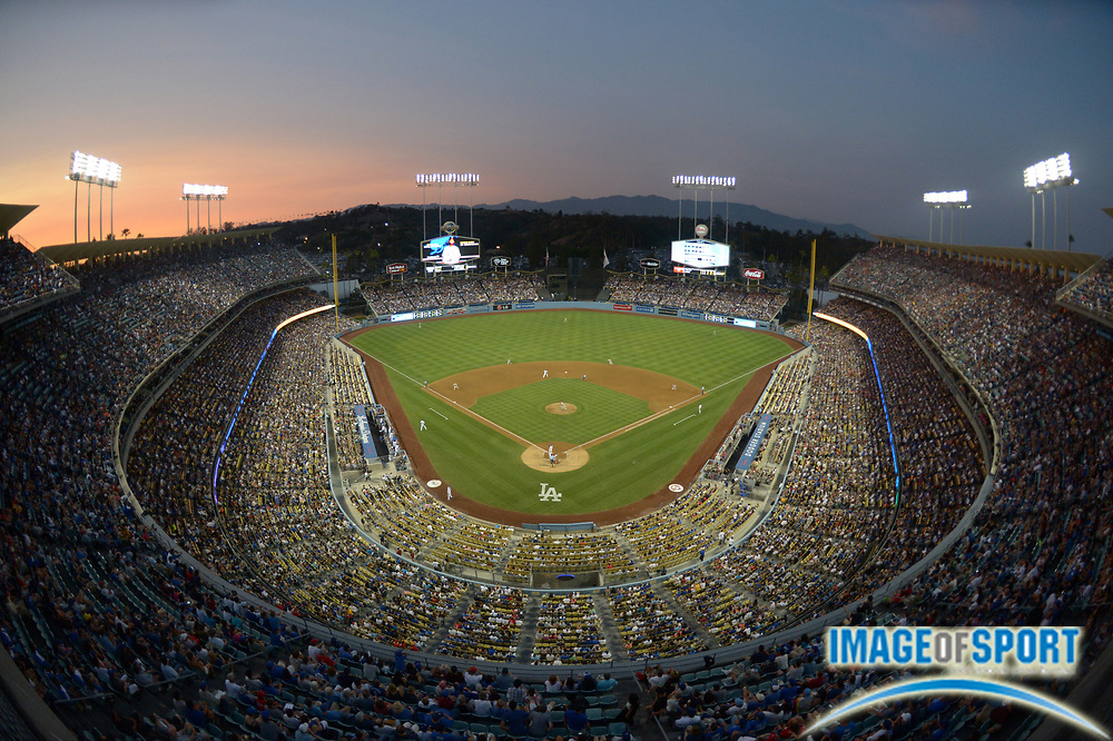 Jun 29, 2013; Los Angeles, CA, USA; General view of the MLB game between the Philadelphia Phillies and the Los Angeles Dodgers at Dodger Stadium.