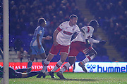 Freddie Ladapo of Rotherham United (10) celebrates after scoring a goal during the EFL Sky Bet League 1 match between Coventry City and Rotherham United at the Trillion Trophy Stadium, Birmingham, England on 25 February 2020.