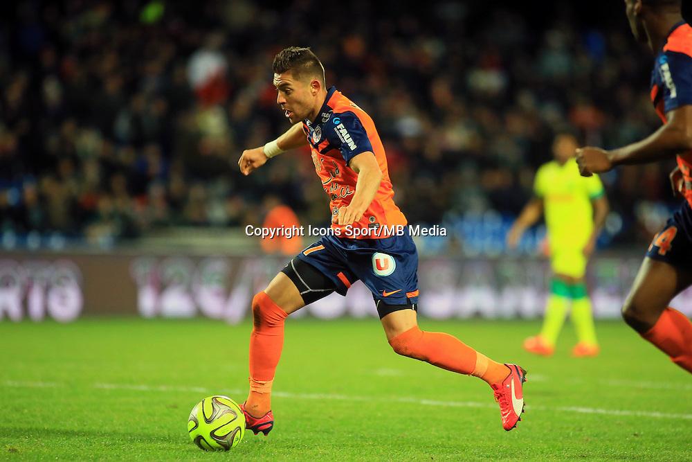Anthony MOUNIER  - 24.01.2015 - Montpellier / Nantes  - 22eme journee de Ligue1<br />Photo : Nicolas Guyonnet / Icon Sport