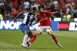 October 7, 2018 - Lisbon, Portugal - Jesus Corona of Porto (L) vies for the ball with Rafa Silva of Benfica (R)  during the Portuguese League football match between SL Benfica and FC Porto at Luz Stadium in Lisbon on October 7, 2018. (Credit Image: © Carlos Palma/NurPhoto/ZUMA Press)