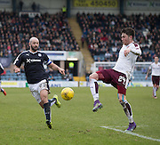 Hearts&rsquo; John Souttar clears from Dundee&rsquo;s Gary Harkins - Dundee v Hearts - Ladbrokes Premiership at Dens Park <br />  - &copy; David Young - www.davidyoungphoto.co.uk - email: davidyoungphoto@gmail.com
