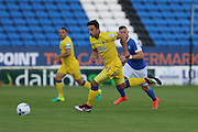 AFC Wimbledon midfielder Chris Whelpdale (11) faces his former club during the EFL Cup match between Peterborough United and AFC Wimbledon at ABAX Stadium, Peterborough, England on 9 August 2016. Photo by Stuart Butcher.