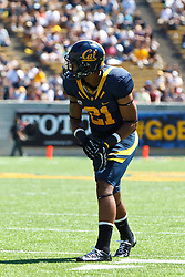 BERKELEY, CA - SEPTEMBER 08: Wide receiver Keenan Allen #21 of the California Golden Bears lines up for a play against the Southern Utah Thunderbirds during the second quarter at Memorial Stadium on September 8, 2012 in Berkeley, California. The California Golden Bears defeated the Southern Utah Thunderbirds 50-31. (Photo by Jason O. Watson/Getty Images) *** Local Caption *** Keenan Allen