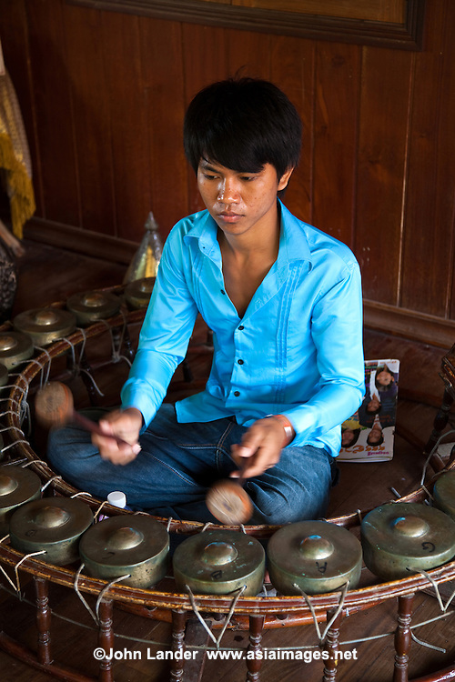 Cambodian Gongs - Cambodian folk music is highly influenced by ancient as well as Hindu forms.  Pinpeat orchestras are made up of bamboo xylophone, gongs and various kinds of drums.