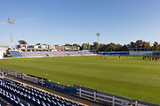 Pavilion view before day 3 of the Specsavers County Champ Div 2 match between Glamorgan County Cricket Club and Leicestershire County Cricket Club at the SWALEC Stadium, Cardiff, United Kingdom on 18 September 2019.