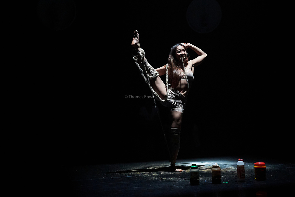 London, UK.8th June  2017. Guerreras, Wild Card by Ella Mesma At Sadler's Wells Lilian Baylis Studio.<br /> Performed By Hsing-Ya Wu
