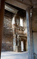 Inside the castle of Chateauneuf-en-Auxois, France.