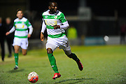 Yeovil Town's Francois Zoko during the The FA Cup Third Round Replay match between Yeovil Town and Carlisle United at Huish Park, Yeovil, England on 19 January 2016. Photo by Graham Hunt.