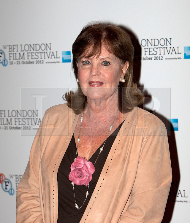 © Licensed to London News Pictures. 15/10/2012. London, U.K..actress Pauline Collins, today (15/10/2012) at the Empire theatre FOR THE BFI London film festival, Leicester Square for the film 'Quartet' directed by Dustin Hoffman and starring Billy Connolly, Pauline Collins, Tom Courtney, Sheridan Smith and Maggie Smith.Photo credit : Rich Bowen/LNP
