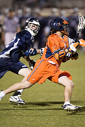 Virginia Cavaliers A George Huguely (11)<br /> <br /> The Virginia Cavaliers Men's Lacrosse Team defeated Mount St. Mary's 23-6 at Kl?ckner Stadium in Charlottesville, VA on March 13, 2007.