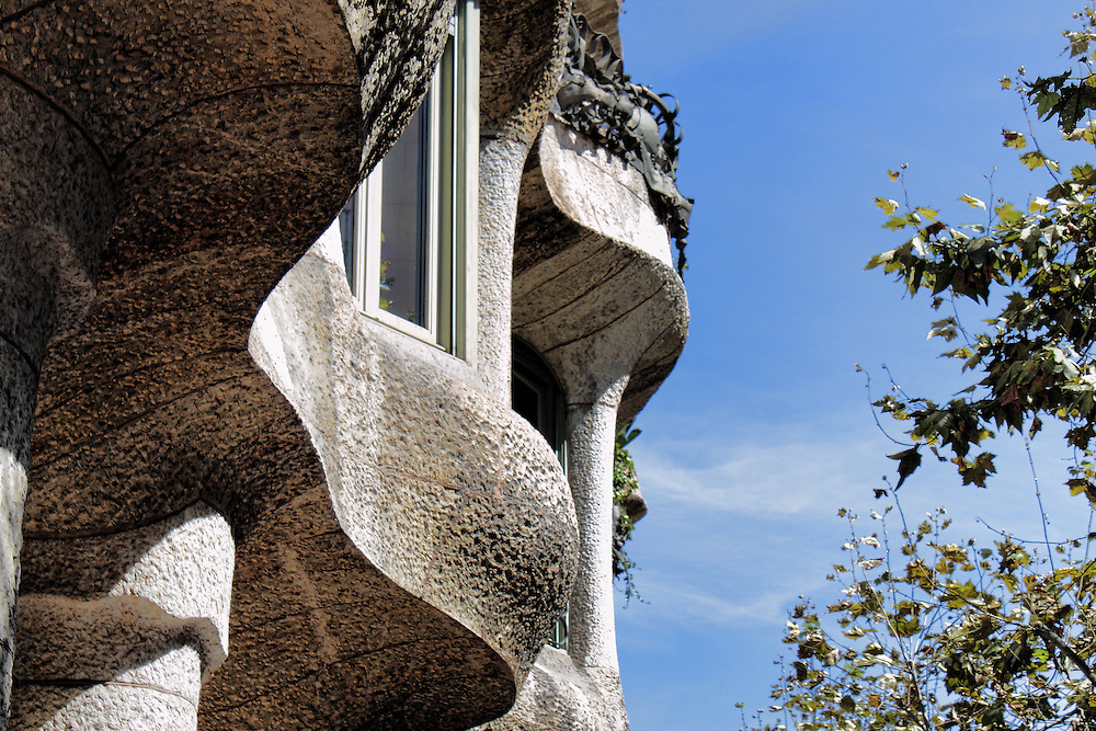 Profile of La Pedrera, Barcelona.