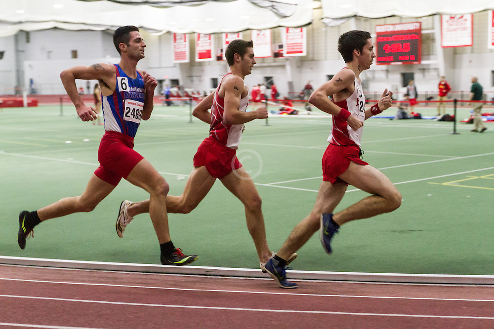 Boston University Multi-team indoor track & field, men 3000 meters, Kevin Thomas BU