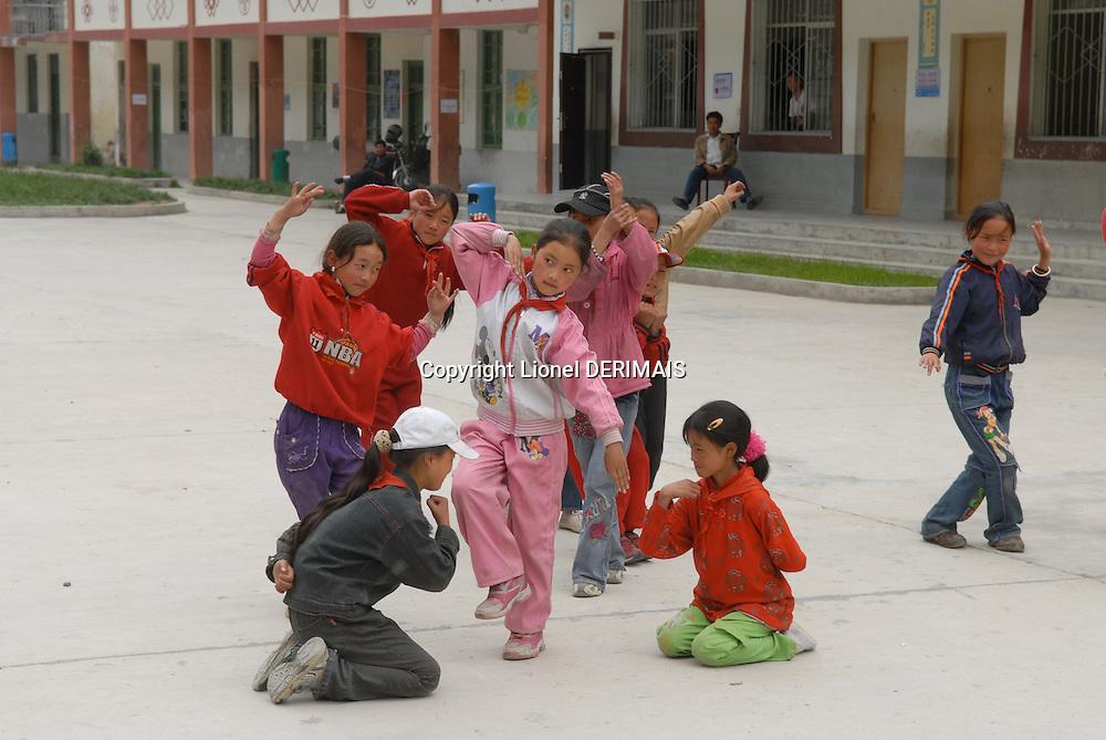 Children in a Sichuan school, Aba county, China.
