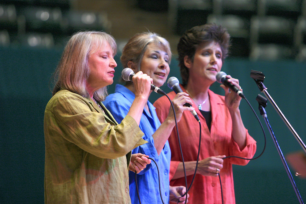 """The local Girls"" performing at Athens Community Celebration of Ohio University Becintennial at the Convocation Center on June 4, 2004."