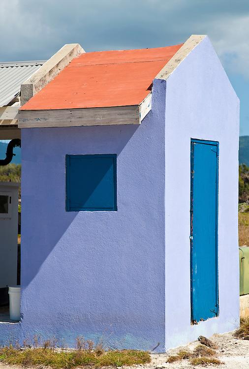 Caribbean color abstract window on Jost Van Dyke BVI