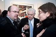 NORMAN LAMONT;, Exhibition of Gerald Laing Graphics. Opening of the Morton Metropolis Gallery. Hosted by Serena Morton and Raye Cosbert.  London. 10 February 2010