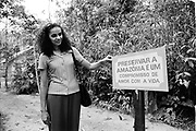 Marina Silva (Rio Branco-Brazil 1958).  In Chico Mendes Park, Rio Branco, in july 1997, then member of the brazilian senate for the state of Acre.She was member of the Partido dos Trabalhadores (PT), and main collaborator of Chico Mendes, the landless leader killed december 22nd, 1988, in Xapuri. In 1994, she was elected to the Senate at the age of 36.In 2003, she was Lula's minister of environment.In 2009, she left the PT for the Brazil Green party, and decided to run for presidency in 2010. july 1997, then member of the brazilian senate for the state of Acre.She was member of the Partido dos Trabalhadores (PT), and main collaborator of Chico Mendes, the landless leader killed december 22nd, 1988, in Xapuri. In 1994, she was elected to the Senate at the age of 36.In 2003, she was Lula's minister of environment.In 2009, she left the PT for the Brazil Green party, and decided to run for presidency in 2010.
