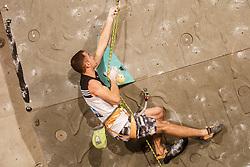 Urban Primožič (SLO) during mans final of competition of IFSC Climbing World Cup Kranj 2016, on November 27, 2016 in Arena Zlato Polje, Kranj, Slovenia. (Photo By Grega Valancic / Sportida.com)