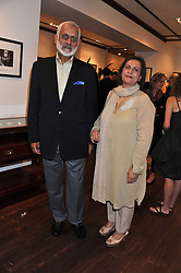 MR & MRS SHAFQAT SHAH at a party to celebrate the launch of the new Mauritius Collection of jewellery by Forbes Mavros held at Patrick Mavros, 104-106 Fulham Road, London SW3 on 5th July 2011.