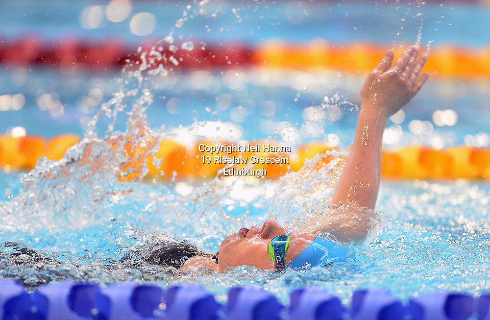 British Para-Swimming International Meet 2016, Tollcross Swimming Centre, Glasgow.<br /> <br /> Event 201 Womens MC 100m Backstroke <br /> <br /> Laura Pilkington<br /> <br />  Neil Hanna Photography<br /> www.neilhannaphotography.co.uk<br /> 07702 246823