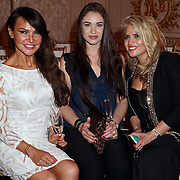 London,England,UK : 31th May 2016 : Lizzie Cundy, Tim and Migena Topciu attend the Fashion Parade at Mandarin Oriental Hotel, Knight bridge, London. Photo by See Li