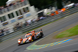 June 17, 2018 - Le Mans, Sarthe, France - G-Drive Racing ORECA 07 Gibson Driver Jean-Eric VERGNE (FRA) in action during the 86th edition of the 24 hours of Le Mans 2nd round of the FIA World Endurance Championship at the Sarthe circuit at Le Mans - France (Credit Image: © Pierre Stevenin via ZUMA Wire)
