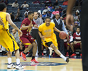 The Golden Bulls face off with Shaw University in the 2015 CIAA Tournament.