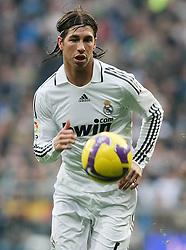 Real Madrid's Sergio Ramos during La Liga match.January 18 2009.