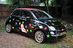 Fiat 500 painted by Peter Blake at the Raisa Gorbachev Foundation fourth annual fundraising gala dinner held at Stud House, Hampton Court, Surrey on 6th June 2009.