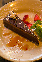 """Decadent Chocolate Cake"" dessert, Cafe Degas, New Orleans, Louisiana, USA"