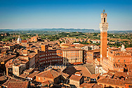 City view over Plaza del Campo in Sienna
