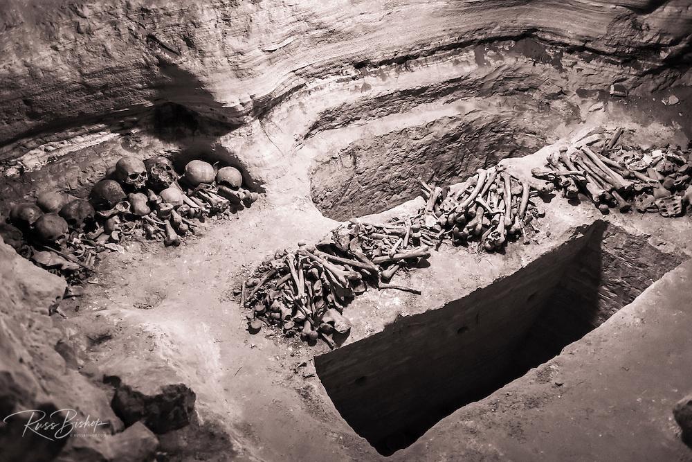 Roman catacombs under the Krka Monastery, Krka National Park, Dalmatia, Croatia