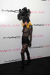 LADY GAGA at the MAC VIVA GLAM discussion hosted by Sharon Osbourne to promote MAC's latest fundraising range with all proceeds donated to HIV/AIDs charities via the MAC AIDS Fund, at Il Bottaccio, 9 Grosvenor Place, London on 1st March 2010.