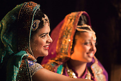 © Licensed to London News Pictures. 30/05/2012. London, England. Davina Perera as Anita and Shelley Williams as Fauzia. Premiere of the Musical Wah! Wah! Girls at the Peacock Theatre in a Sadler?s Wells, Theatre Royal Stratford East and Kneehigh Production where East London meets Bollywood.  Written by Tanika Gupta, directed by Emma Rice with choreography by Javed Sanadi and leading Kathak choreographer Gauri Sharma Tripath. iWah! Wah! Girls is part of World Stages London, a two month celebration of London?s diversity through a series of exceptional shows created by leading UK and international artists.  Photo credit: Bettina Strenske/LNP