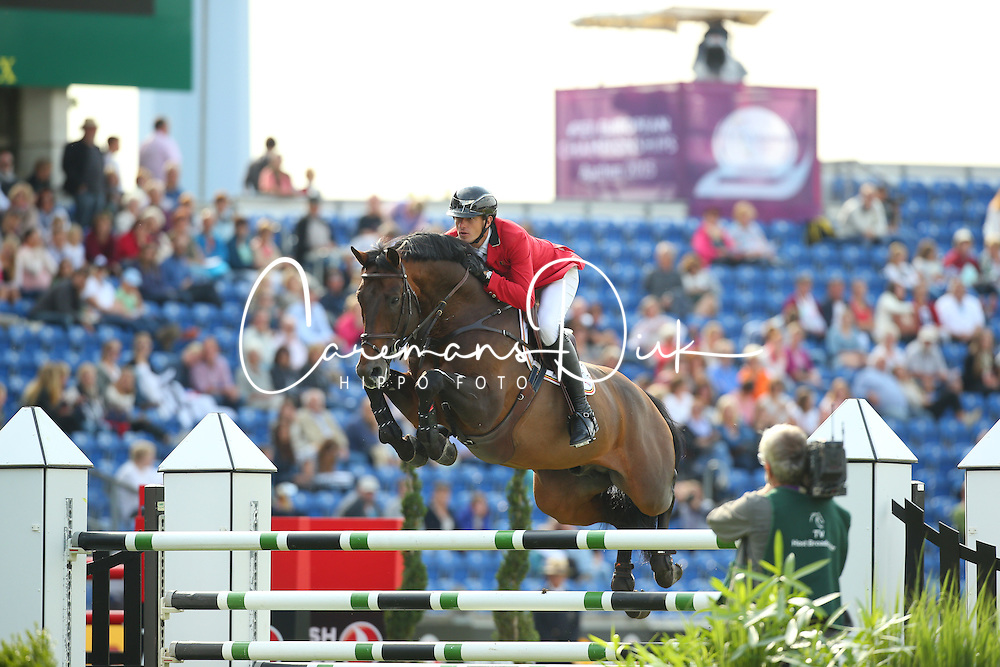 Wathelet Gregory, (BEL), Conrad de Hus<br /> Team Competition round 1 and Individual Competition round 1<br /> FEI European Championships - Aachen 2015<br /> &copy; Hippo Foto - Stefan Lafrentz<br /> 19/08/15