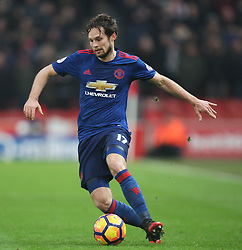 Daley Blind of Manchester United in action - Mandatory by-line: Jack Phillips/JMP - 21/01/2017 - FOOTBALL - Bet365 Stadium - Stoke-on-Trent, England - Stoke City v Manchester United - Premier League